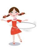 Meisje met hoepel stock illustratie