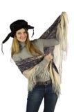 Meisje met hoofddoek Stock Foto's