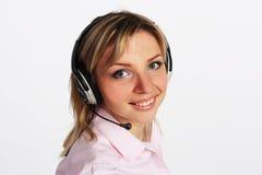 Meisje met hoofdtelefoon Royalty-vrije Stock Foto's