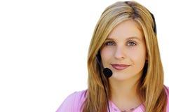 Meisje met Hoofdtelefoon Royalty-vrije Stock Afbeelding