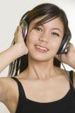 Meisje met hoofdtelefoons Royalty-vrije Stock Fotografie