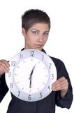 Meisje met Horloge royalty-vrije stock foto's