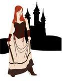 Meisje met kasteel Royalty-vrije Stock Foto's