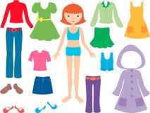 Meisje met kleren Royalty-vrije Stock Afbeelding