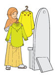Meisje met kleren Stock Fotografie