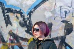 Meisje met kleurrijk haar Royalty-vrije Stock Foto