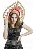 Meisje met Kokoshnik Royalty-vrije Stock Foto