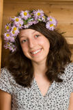 Meisje met kroon Royalty-vrije Stock Foto