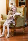 Meisje met kroon Royalty-vrije Stock Afbeelding