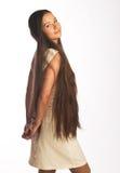 Meisje met lang haar Stock Afbeelding