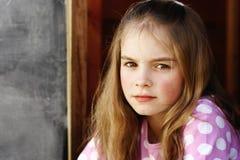 Meisje met lang haar Stock Fotografie