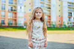 Meisje met lang haar Stock Foto