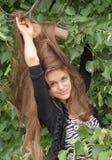 Meisje met lang haar royalty-vrije stock afbeelding