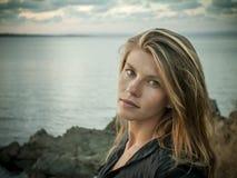 Meisje met lang recht haar van Bulgarije Royalty-vrije Stock Afbeelding