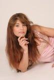 Meisje met lang rood haar Royalty-vrije Stock Foto's