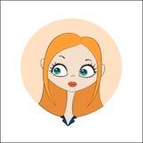 Meisje met lang rood haar Stock Fotografie