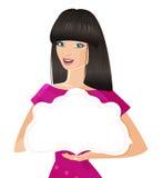 Meisje met lege raad royalty-vrije illustratie