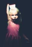 Meisje met licht Royalty-vrije Stock Afbeelding