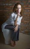 meisje met lolly Royalty-vrije Stock Fotografie