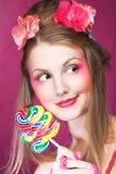 Meisje met lolly Royalty-vrije Stock Afbeelding