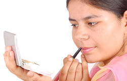 Meisje met make-up royalty-vrije stock foto