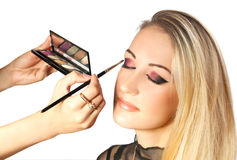 Meisje met make-up Royalty-vrije Stock Foto's