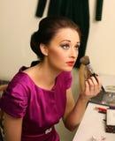 Meisje met make-up Royalty-vrije Stock Afbeeldingen