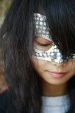 Meisje met masker Stock Afbeelding