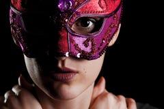 Meisje met masker royalty-vrije stock afbeeldingen