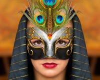 Meisje met masker Stock Foto