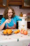 Meisje met mixer Royalty-vrije Stock Afbeelding