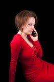 Meisje met mobiele telefoon Royalty-vrije Stock Foto