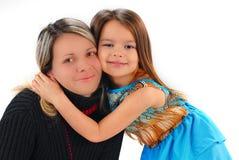Meisje met moeder stock afbeelding
