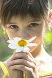 Meisje met mooie grote ogen Stock Foto
