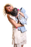 Meisje met nieuwe kleren Royalty-vrije Stock Foto's