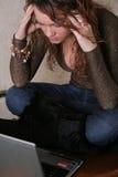 Meisje met notitieboekje Stock Foto's