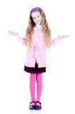 Meisje met omhoog handen Stock Afbeelding