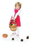 Meisje met oogst Stock Foto's