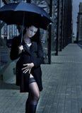 Meisje met paraplu Royalty-vrije Stock Afbeeldingen