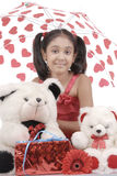 Meisje met paraplu Royalty-vrije Stock Afbeelding