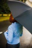 Meisje met paraplu Stock Foto