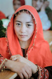 Meisje met ring in Afghanistan stock foto