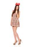 Meisje met rode boog Royalty-vrije Stock Afbeelding
