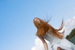 Meisje met rood haar Royalty-vrije Stock Fotografie
