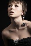 Meisje met schedels Royalty-vrije Stock Afbeelding
