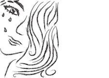 Meisje met scheuren stock illustratie