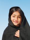 Meisje met sjaal Stock Foto
