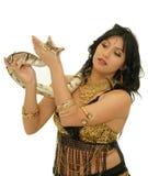 Meisje met slang royalty-vrije stock fotografie