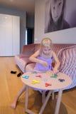 Meisje met spinners stock afbeeldingen