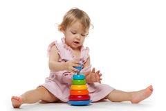 Meisje met stuk speelgoed Royalty-vrije Stock Foto's